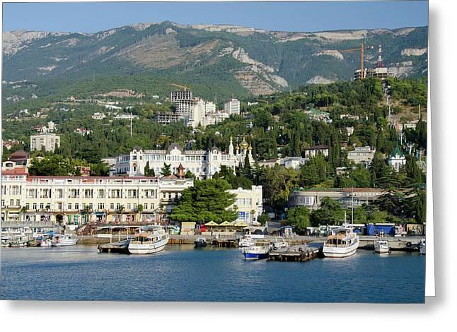 Ukraine, Yalta Black Sea View Greeting Card by Cindy Miller Hopkins