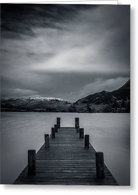 Winter Greeting Cards - Ullswater From Glenridding. Greeting Card by Daniel Kay