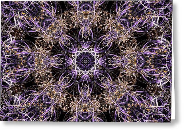 Ultra Modern Greeting Cards - Ultra Violet Light Greeting Card by David Walker