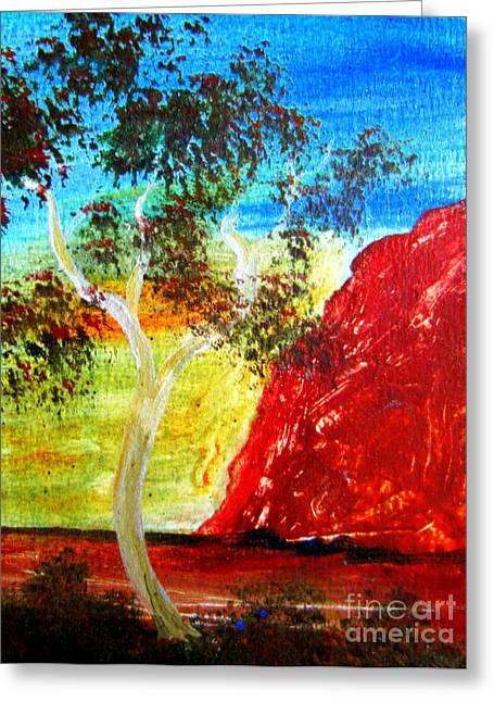 Rock Jewelry Greeting Cards - Uluru Ayers Rock Australia Greeting Card by Roberto Gagliardi