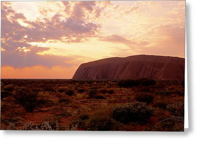 Ayers Rock Greeting Cards - Uluru-kata Tjuta National Park Northern Greeting Card by Panoramic Images