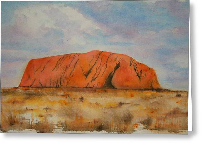 Lyndsey Hatchwell Greeting Cards - Uluru Greeting Card by Lyndsey Hatchwell