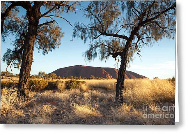 Australasia Greeting Cards - Uluru Greeting Card by Matteo Colombo