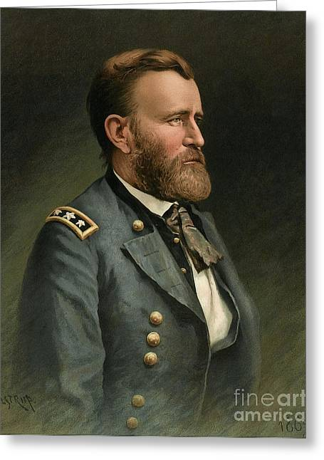 General Ulysses Grant Greeting Cards - Ulysses S Grant 18th US President Greeting Card by Wellcome Images
