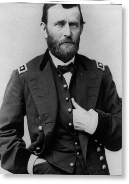 Military Greeting Cards - Ulysses S Grant Greeting Card by American School