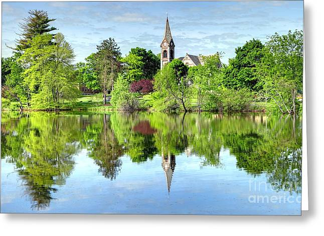 Umass Greeting Cards - UMass Amherst   Greeting Card by Denis Tangney Jr