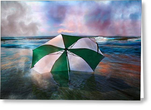 Blurred Motion Greeting Cards - Umbrella Art Greeting Card by Betsy C  Knapp