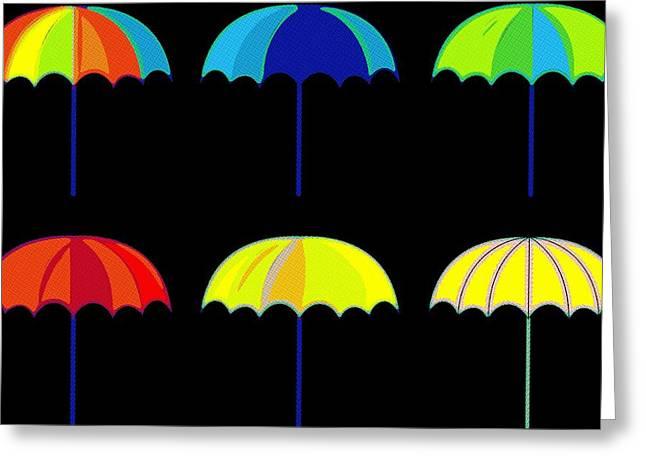 Umbrella Ella Ella Ella Greeting Card by Florian Rodarte