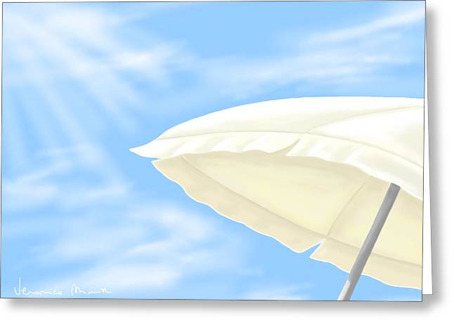 Umbrella Greeting Card by Veronica Minozzi