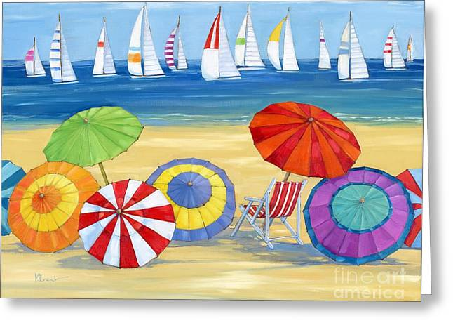 Umbrellas Greeting Cards - Umbrella Vista Greeting Card by Paul Brent