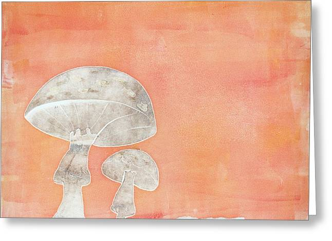 Nature Abstracts Reliefs Greeting Cards - Umbrellas Greeting Card by Theresa Khong