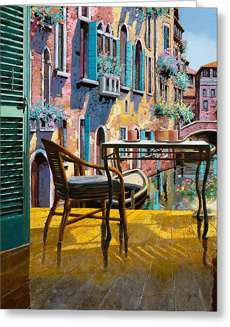 Venice Greeting Cards - Un Soggiorno A Venezia Greeting Card by Guido Borelli