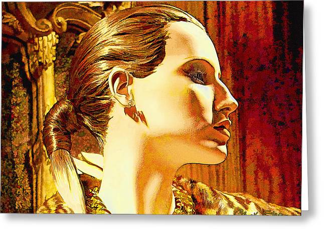 Intrigue Greeting Cards - Una Bella Donna Greeting Card by Chuck Staley