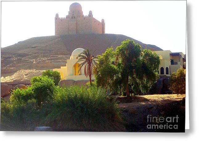 Alberi Greeting Cards - Una moschea nel deserto Greeting Card by Adriana Otetea