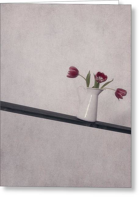 Pitcher Greeting Cards - Unbalanced Flowers Greeting Card by Joana Kruse