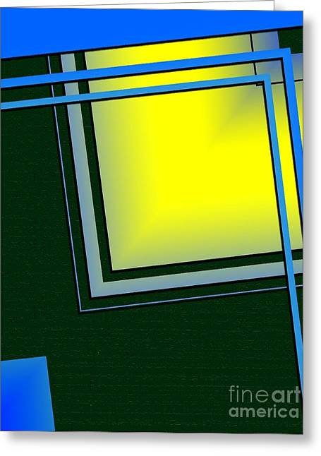 Style Greeting Cards - Unbalanced Geometric Art Greeting Card by Mario  Perez
