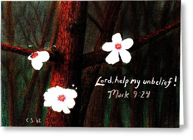 Bible Pastels Greeting Cards - Unbelief Greeting Card by Catherine Saldana