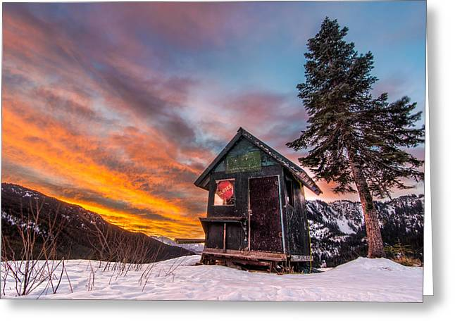 Sun Peaks Resort Greeting Cards - Unbelievable Sunrise Greeting Card by James Wheeler