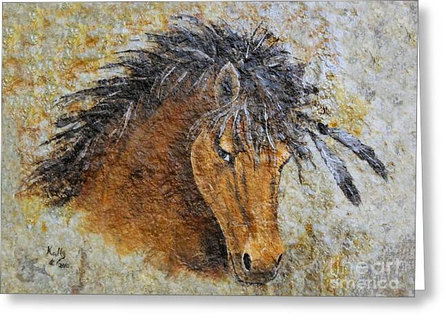 Unbridled Greeting Card by Kally Wininger