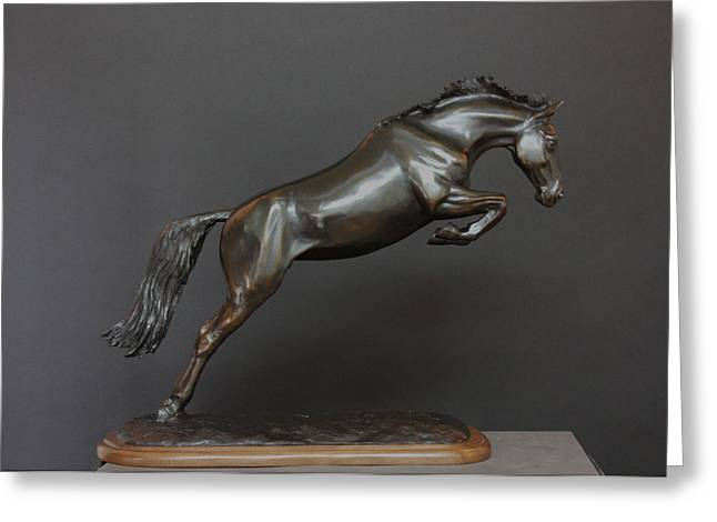 Equestrian Prints Sculptures Greeting Cards - Unbridled Splendor Greeting Card by Mary Sand