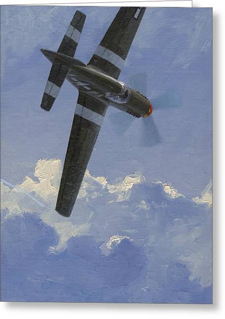 Spitfire Greeting Cards - Unbridled Stallion Greeting Card by Wade Meyers