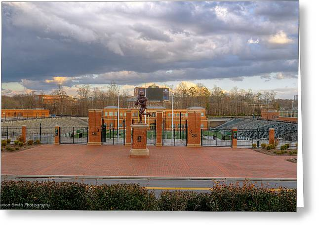 Charlotte Greeting Cards - UNC Charlotte Stadium Greeting Card by Maurice Smith