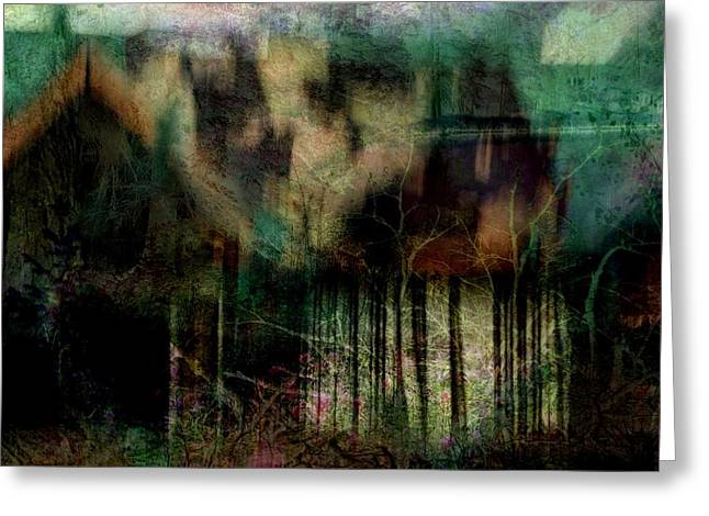 Ghostly Greeting Cards - Uncanny Expectations Greeting Card by Shirley Sirois