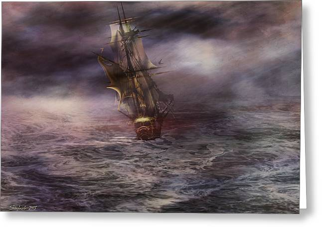 Recently Sold -  - Pirate Ships Greeting Cards - Uncharted Waters Greeting Card by Stefano Popovski