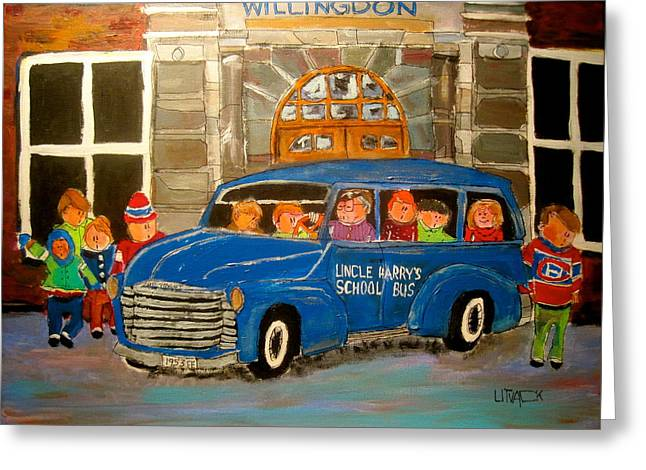 Uncle Harry's At Willingdon Greeting Card by Michael Litvack