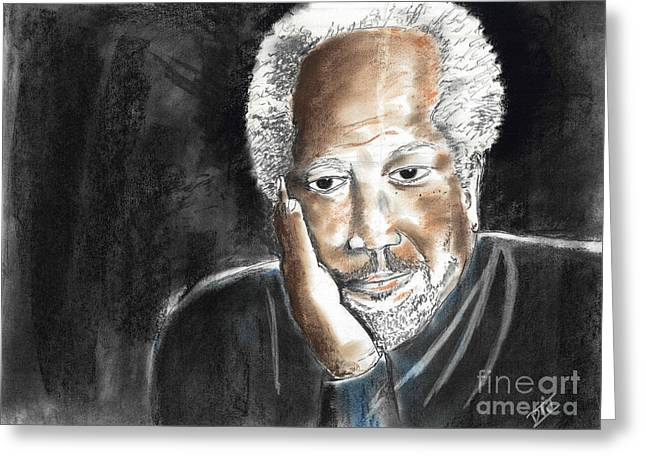 African-american Pastels Greeting Cards - Uncle Jack Greeting Card by David Jackson