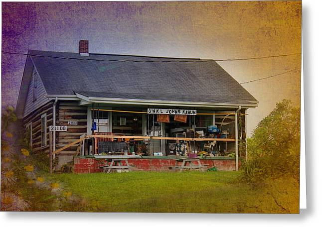Log Cabin Interiors Greeting Cards - Uncle Johns Cabin Greeting Card by Kume Bryant