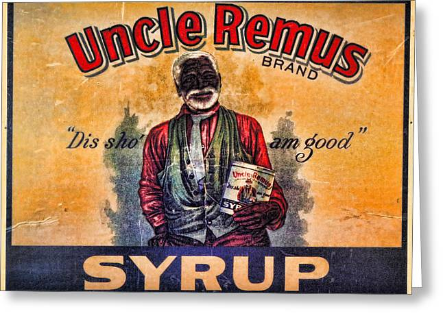 Customization Greeting Cards - Uncle Remus  Greeting Card by Lee Dos Santos