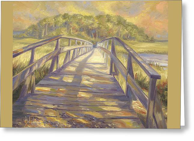 Uncle Tim's Bridge Greeting Card by Lucie Bilodeau