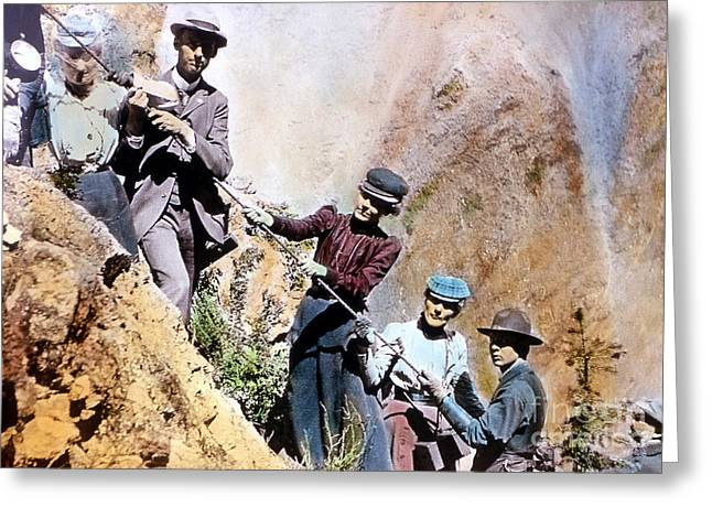 Uncle Tom Greeting Cards - Uncle Toms Trail Yellowstone National Park Greeting Card by NPS Photo