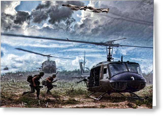 Vietnam War Greeting Cards - Uncommon Valor Greeting Card by Peter Chilelli