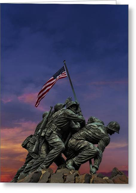 Valor Greeting Cards - Uncommon Valor Was A Common Virtue Greeting Card by Susan Candelario