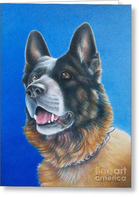 Police Art Drawings Greeting Cards - Unconditional Greeting Card by Pamela Clements