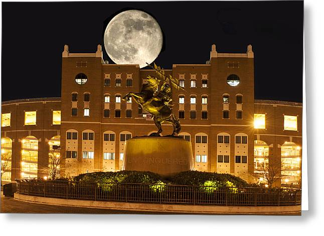 Unconquered Doak Campbell Full Moon Greeting Card by Frank Feliciano