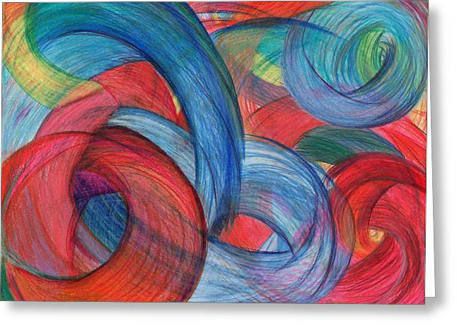Bright Drawings Greeting Cards - Uncovered Curves Greeting Card by Kelly K H B
