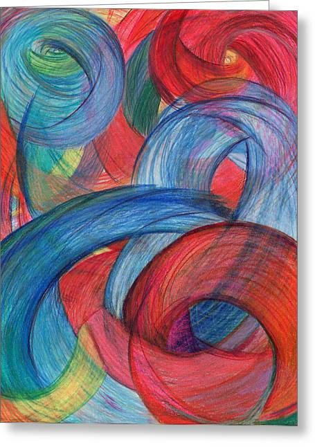 Trial Drawings Greeting Cards - Uncovered Curves-Vertical Greeting Card by Kelly K H B