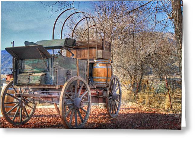 Uncovered Wagon Greeting Card by Donna Kennedy
