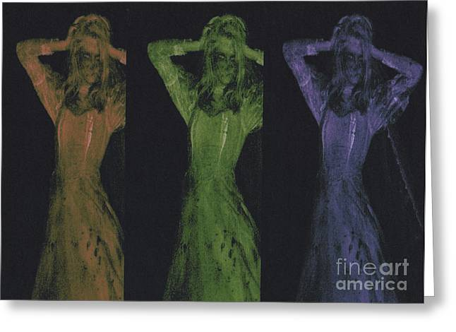 Samhaim Greeting Cards - Undead x 3 Greeting Card by First Star Art