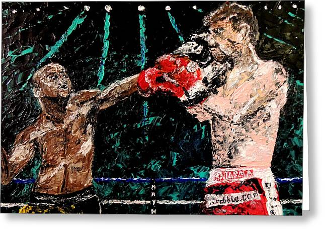 Pallet Knife Photographs Greeting Cards - Undefeated - Floyd Mayweather Jr  Greeting Card by Mark Moore