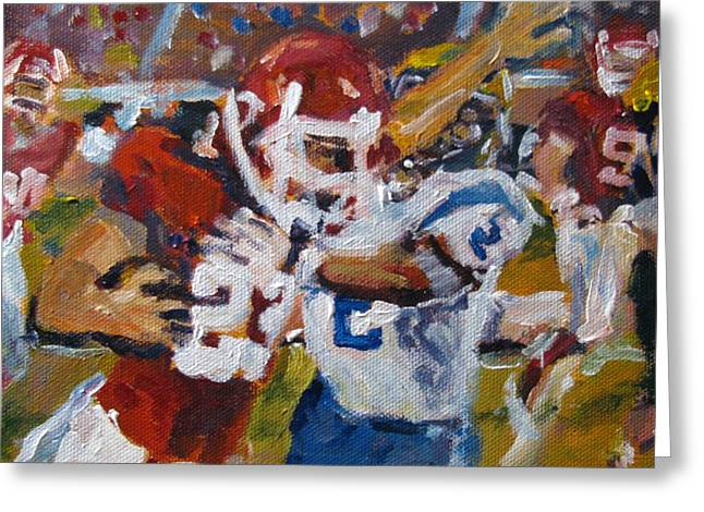 Undefeated Greeting Card by Susan E Jones