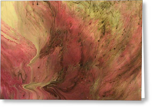 Acrylic Pour Greeting Cards - Undefined SW16 Greeting Card by Sonya Wilson