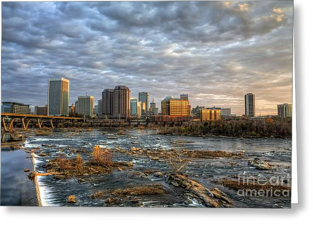 Richmond Va Greeting Cards - Under A Golden Sky Greeting Card by Tim Wilson