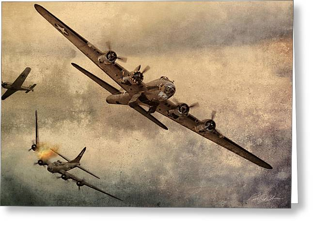 Crew Greeting Cards - Under Attack Greeting Card by Peter Chilelli