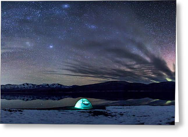 Tent Greeting Cards - Under Big Skies Greeting Card by Aaron Aldrich