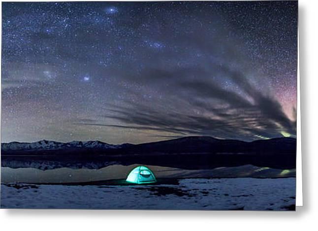 Glacier National Park Greeting Cards - Under Big Skies Greeting Card by Aaron Aldrich