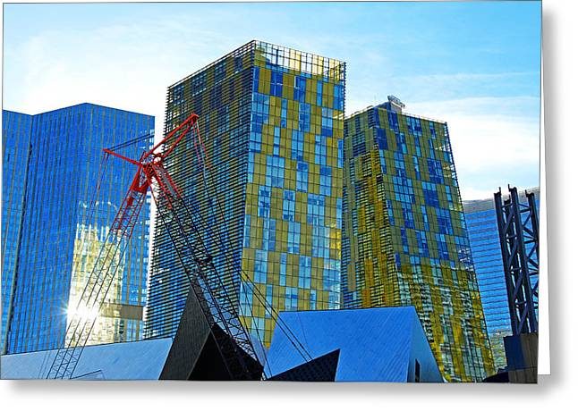 Ultra Modern Greeting Cards - Under Construction Greeting Card by Debbie Oppermann